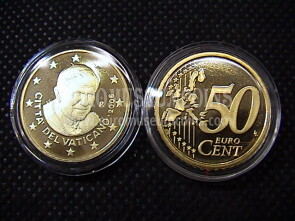 2006 Vaticano eurocent 50 proof da set ufficiale