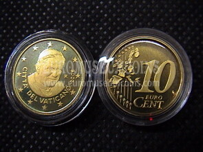 2006 Vaticano eurocent 10 proof da set ufficiale