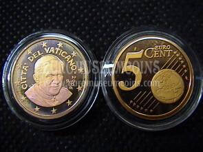 2006 Vaticano eurocent 5 proof da set ufficiale