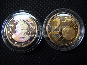 2006 Vaticano eurocent 2 proof da set ufficiale