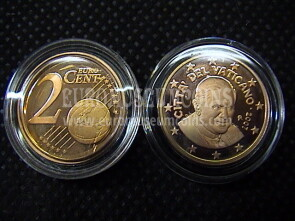 2007 Vaticano eurocent 2 proof da set ufficiale