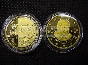 2009 Vaticano eurocent 50 proof da set ufficiale