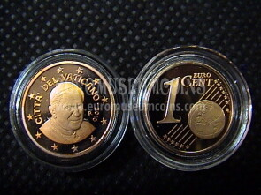 2010 Vaticano eurocent 1 proof da set ufficiale