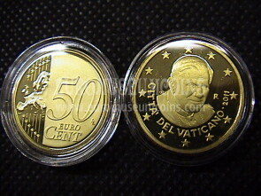 2011 Vaticano eurocent 50 proof da set ufficiale