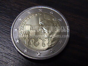 Estonia 2016 Paul Keres 2 Euro commemorativo