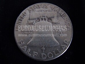 1951 Stati Uniti half dollar Franklin in argento