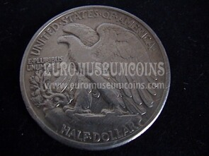 1942 Stati Uniti half dollar Walking Liberty in argento
