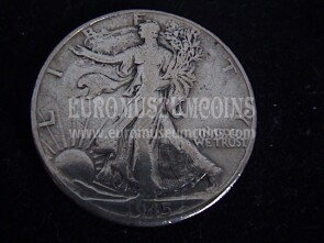 1945 Stati Uniti half dollar Walking Liberty in argento