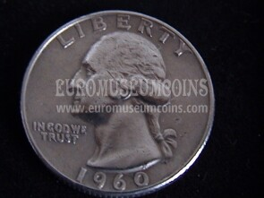 1960 Stati Uniti quarter dollar Washington in argento