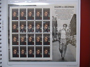 USA 1996 minifoglio Leggende di Hollywood James Dean