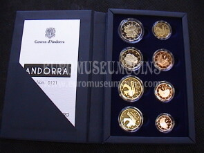 2014 Andorra 1° set ufficiale EURO PROOF