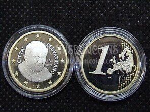 2012 Vaticano euro 1 proof da set ufficiale