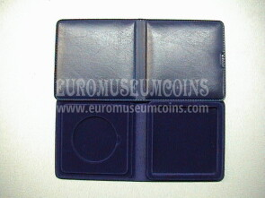 22 mm Astuccio Moneyfloc a 1 posto per sterlina marengo colore blu