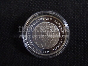 2006 Germania Mondiali di Calcio 10 Euro Proof in argento