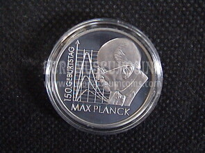 2008 Germania Max Planck 10 Euro Proof in argento
