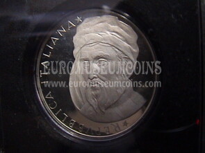 1986 Italia 500 Lire Proof argento Donatello