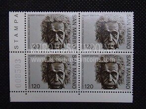 1979 serie completa in quartina Albert Einstein SAN MARINO