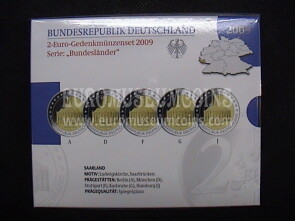 Germania 2009 Saarland 5 zecche 2 Euro commemorativi Proof