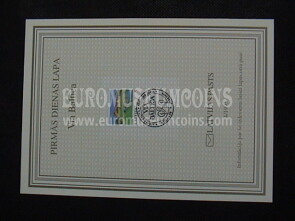 1995 Via Baltica Lituania Folder FDC