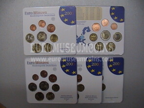 2005 Germania serie divisionale zecca G blister ufficiale FDC