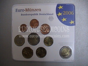 2006 Germania serie divisionale zecca A blister ufficiale FDC