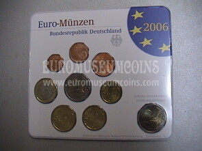 2006 Germania serie divisionale zecca G blister ufficiale FDC