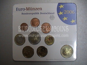 2006 Germania serie divisionale zecca D blister ufficiale FDC