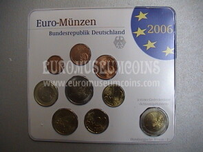 2006 Germania serie divisionale zecca J blister ufficiale FDC