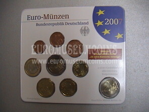 2007 Germania serie divisionale zecca A blister ufficiale FDC