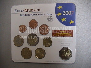 2007 Germania serie divisionale zecca D blister ufficiale FDC