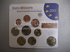 2007 Germania serie divisionale zecca G blister ufficiale FDC