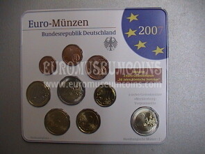 2007 Germania serie divisionale zecca J blister ufficiale FDC