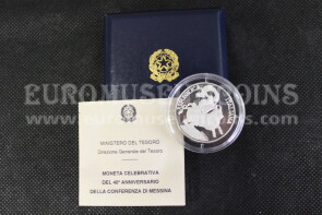 1995 Italia 10000 Lire PROOF Conferenza di Messina in argento con cofanetto