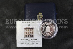 1993 Italia 5000 Lire PROOF Università di Pisa in argento con cofanetto