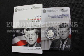 2013 San Marino 5 Euro PROOF John Fitzgerald Kennedy in argento