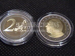 2005 Vaticano 2 EURO proof da set ufficiale
