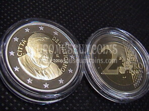 2006 Vaticano 2 euro proof da set ufficiale