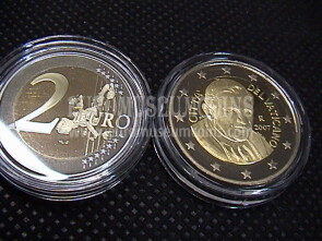 2007 Vaticano 2 EURO proof da set ufficiale