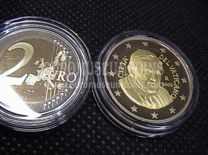 2008 Vaticano 2 euro proof da set ufficiale