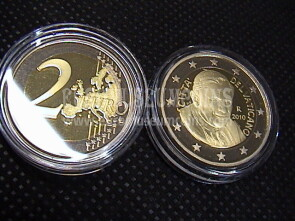 2010 Vaticano 2 euro proof da set ufficiale