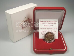 Monaco 2012 LUCIEN 2 Euro commemorativo Proof