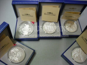 2003 Francia set completo 5 monete x 1,5 Euro in argento PROOF Tour de France