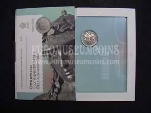 San Marino 2016 Donatello 2 euro commemorativo in folder ufficiale