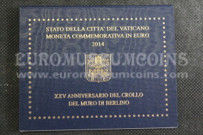 Vaticano 2014 Muro di Berlino 2 euro FDC in folder ufficiale