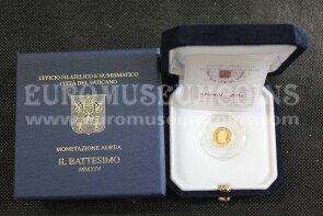 2014 Vaticano 10 Euro PROOF Il Battesimo in oro con cofanetto