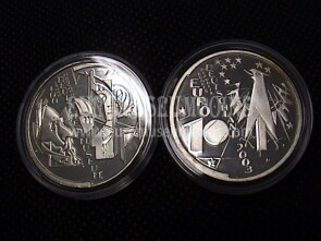 2003 Germania Museo di Monaco 10 Euro Proof in argento zecca D