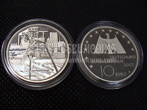 2003 Germania Ruhr 10 Euro Proof in argento zecca F