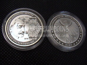 2003 Germania Semper 10 Euro Proof in argento zecca G
