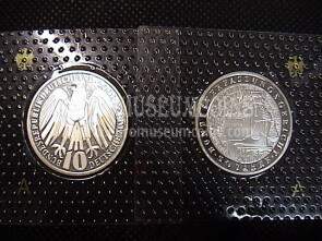 2001 Germania Corte Federale 10 Marchi Proof in argento Zecca A