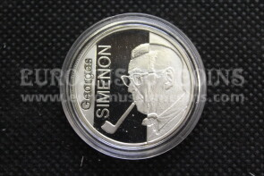 2003 Belgio Georges Simenon 10 Euro in argento PROOF